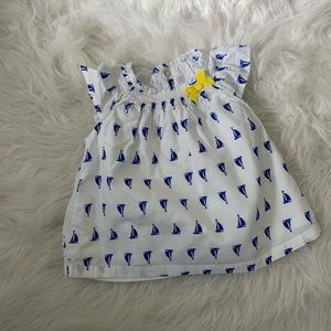 Carters Baby 6 M Sun Dress / Shirt Blue & White